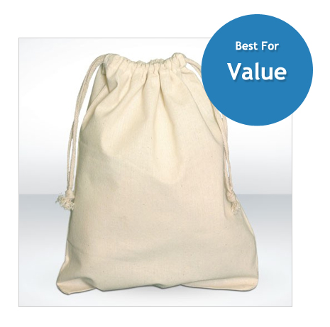 Natural Drawstring Pouch