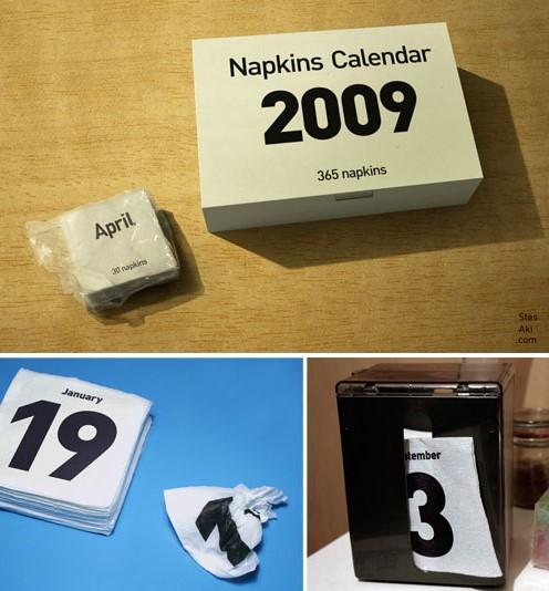 Napkin Calendar