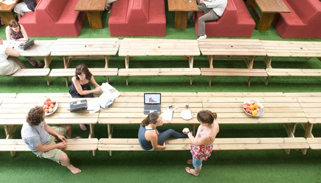 Innocent Drinks brings the outdoors inside with its fake grass