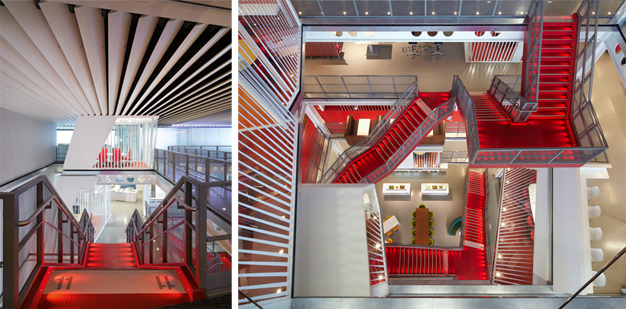 Macquarie Ropemaker's staircases in their London office