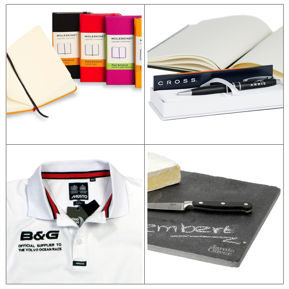 Dual-branding products from Moleskine, Cross, Musto & Jamie Oliver