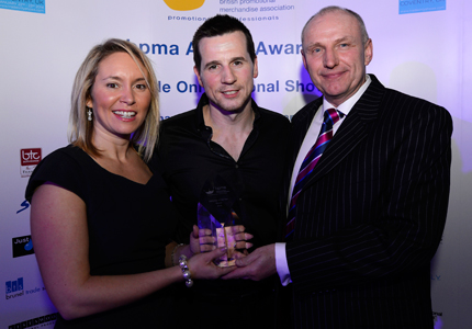 Gemma & Matt receiving the Campaign of the Year Award at the BPMA Annual Awards