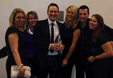 Gemma, Carrie, Miles, Jemma, Matt & Cat receiving the Campaign of the Year Award at the BPMA Annual Awards