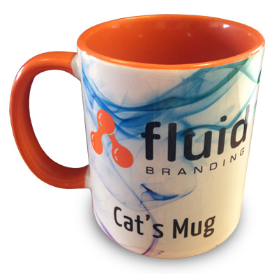 The Dye Sublimation Mug that Cat created on her visit...