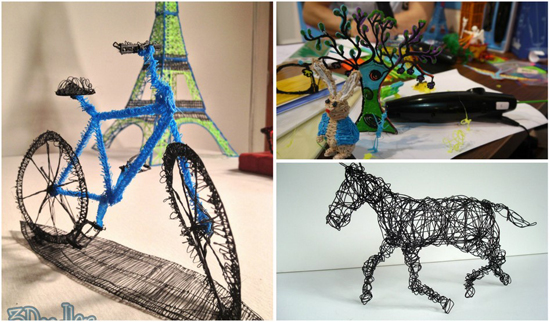 Examples of '3Doodler' projects