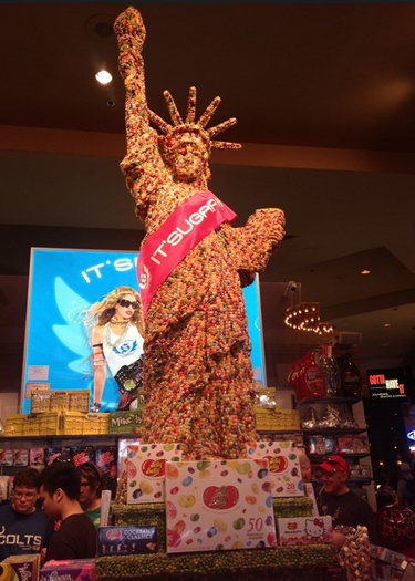 Jelly Belly Statue of Liberty Sculpture