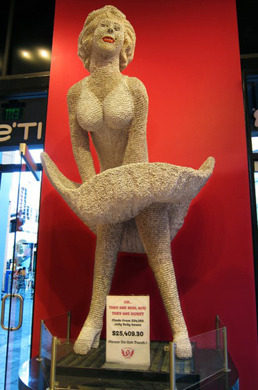 Jelly Belly Marilyn Monroe Sculpture