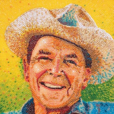 Jelly Belly Portrait of USA president Ronald Reagon