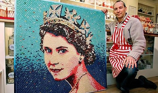 Jelly Belly Portrait of the Queen
