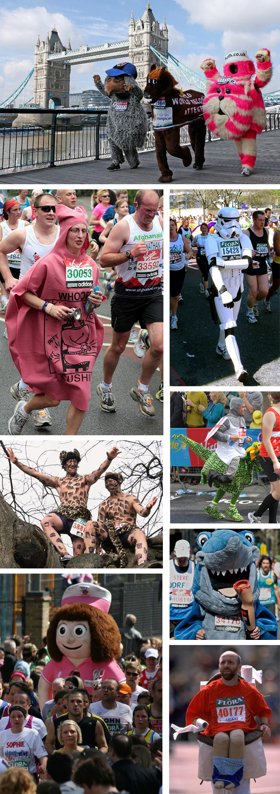 Fun Costumes at the London Marathon