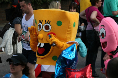 Spongebob running