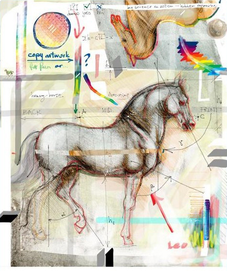 Digital Moleskine Notebook Art