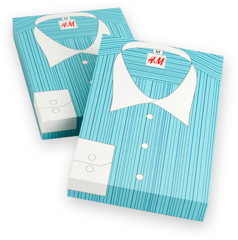 H & M Shirt Packaging