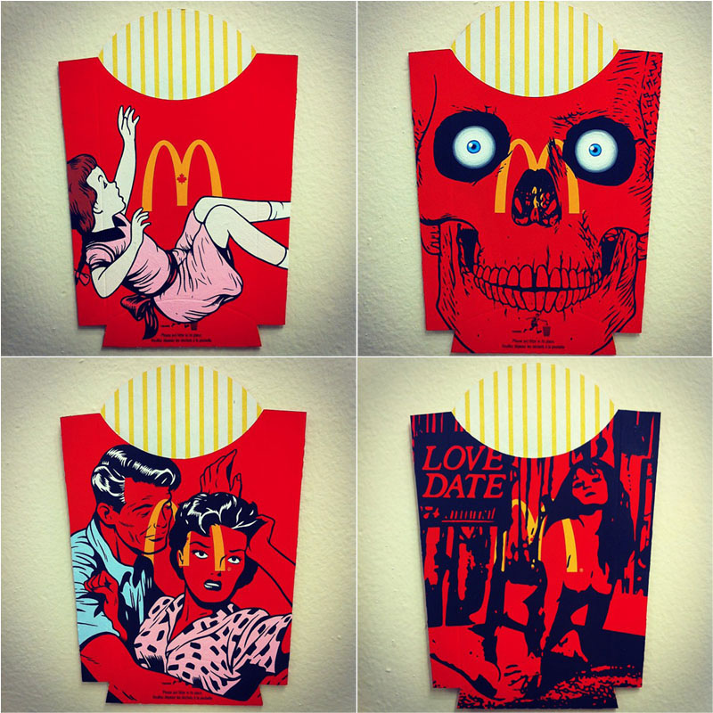 McDonald's Fries Boxes by Ben Frost