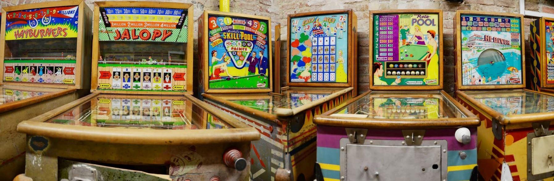 Pinball machines at budapest Pinball Museum