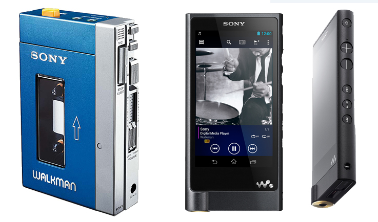1980s Sony Walkman & the new 2015 Walkman