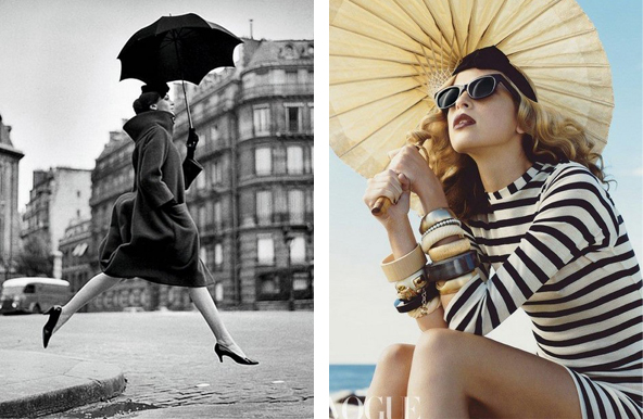Vogue often uses umbrellas in their imagery