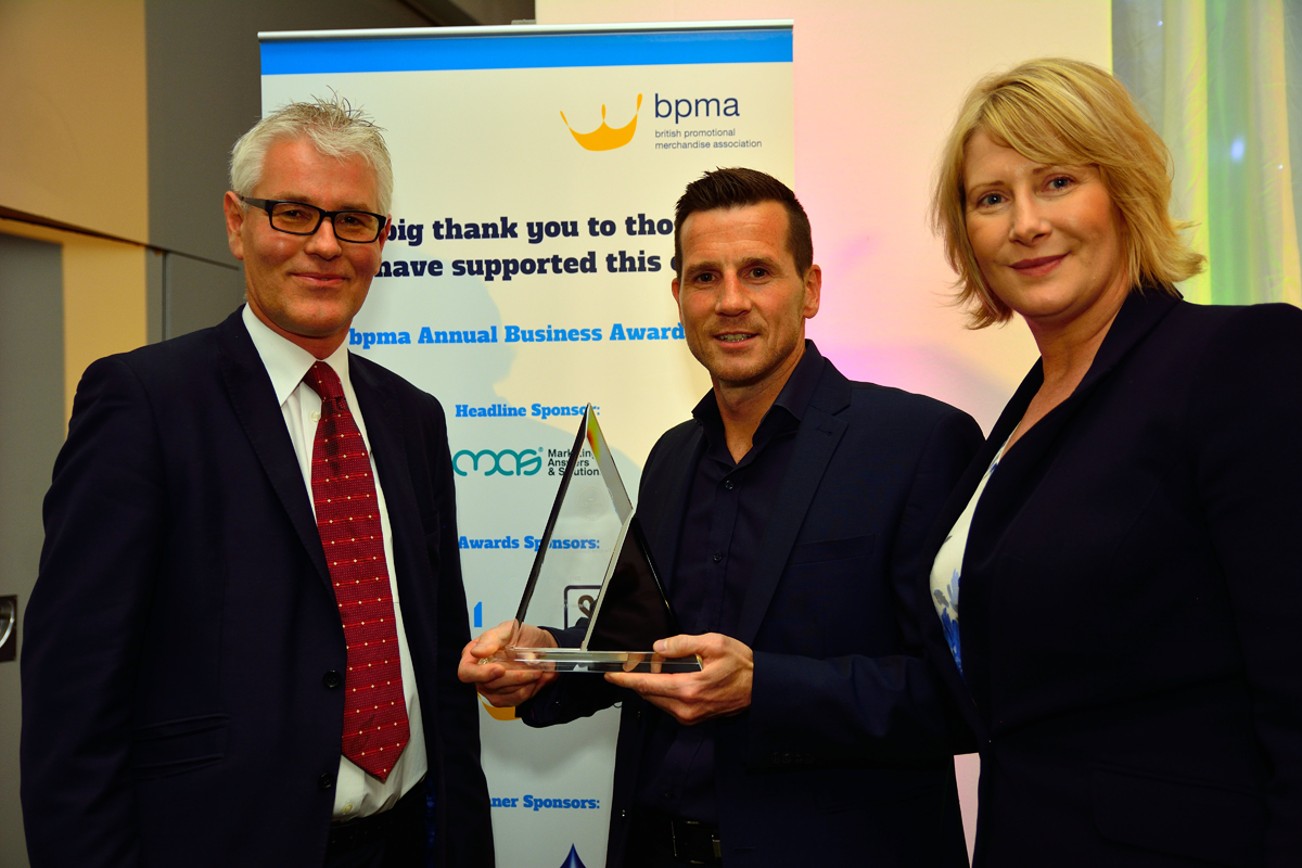 Accepting the Website of the Year Award at the BPMA ceremony