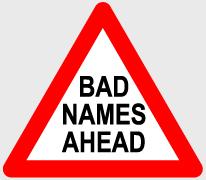 Bad Names Ahead