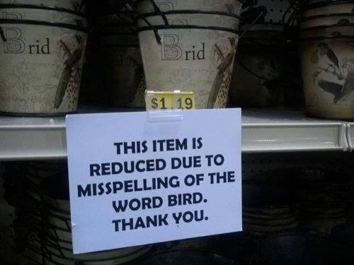 Bird Misspelling...