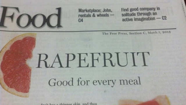 I think that Grapefruit is forming a G...