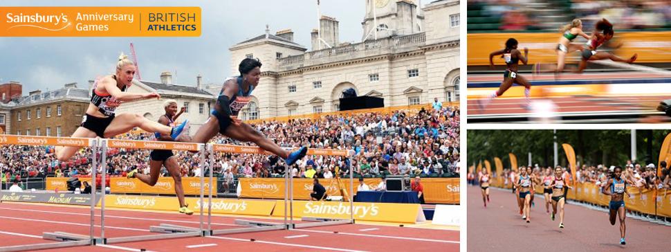 British Athletics Flags & Scrim for Sainsbury's Anniversary Games