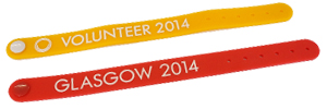 Bespoke Wristbands for Volunteers at the 2014 Commonwealth Games
