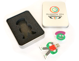 Custom Moulded USB Memory Stick in Presentation Box