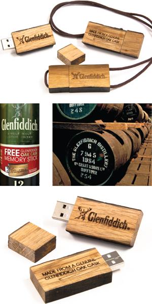 Bespoke Whiskey Barrel USB Flash Drives for Glenfiddich