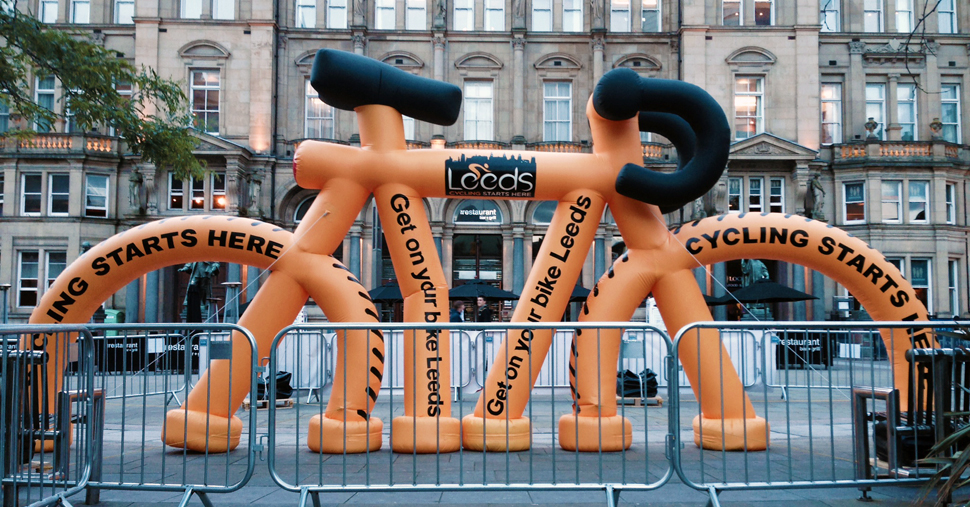 Custom Inflatable Bicycle for Leeds City Council