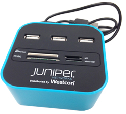 Branded USB Hub & Card Reader for Westcon Group