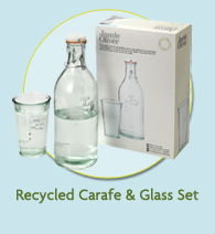 Recycled Carafe & Glass Set