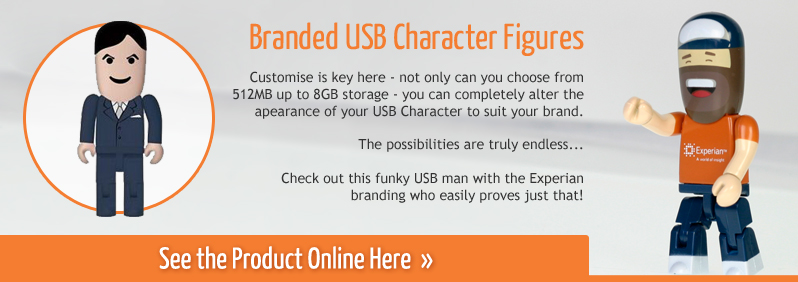 Branded USB Character Figures
